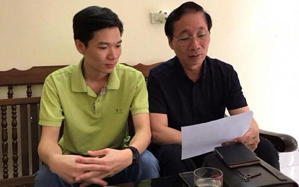 Bị cáo Hoàng Công Lương và Luật sư Nguyễn Văn Chiến