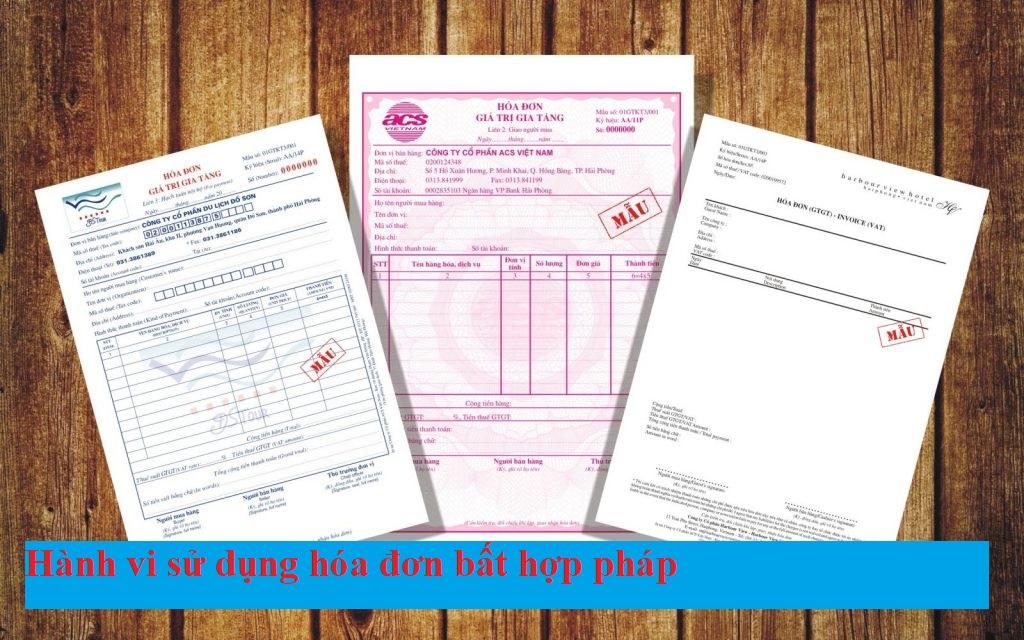 Hành vi sử dụng hóa đơn bất hợp pháp